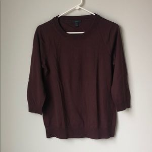 J. Crew burgundy Tippi sweater